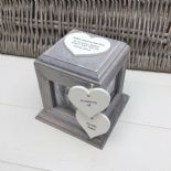 Shabby Chic PERSONALISED Rustic Wood In Memory Of WIFE Or ANY NAME Photo Cube - 332869810132